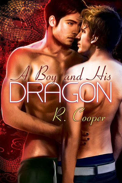 Cover for A Boy and His Dragon. Two men about to embrace. One seems hesitant, but mesmerized by the other.